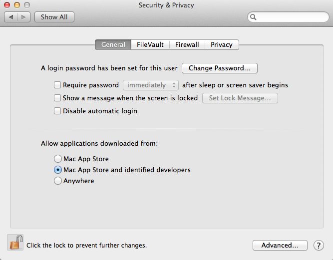 Mac Security - Gatekeeper System Preferences